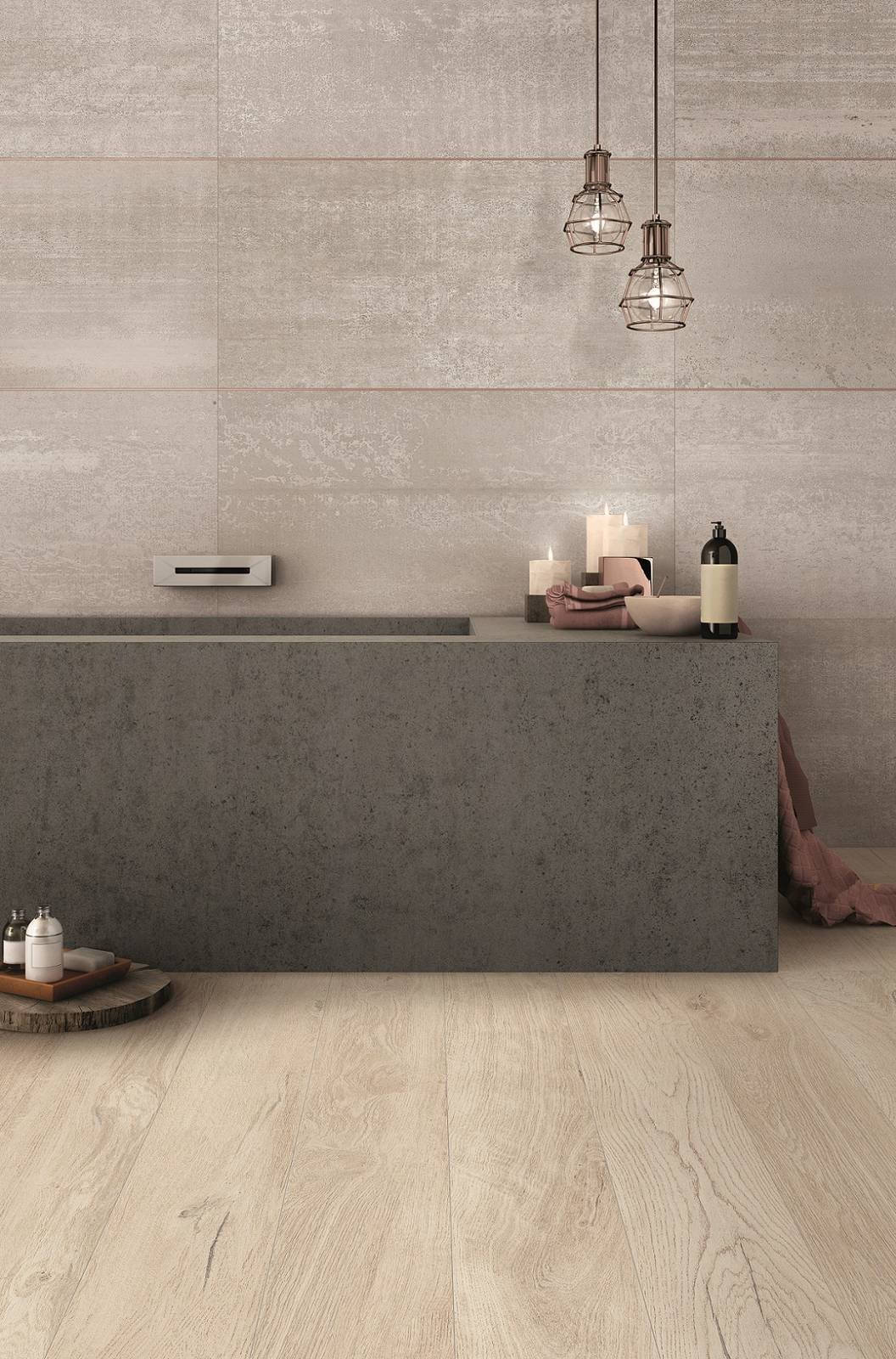 Piastrelle per il bagno il trionfo del gres effetto - Piastrelle di gres ...