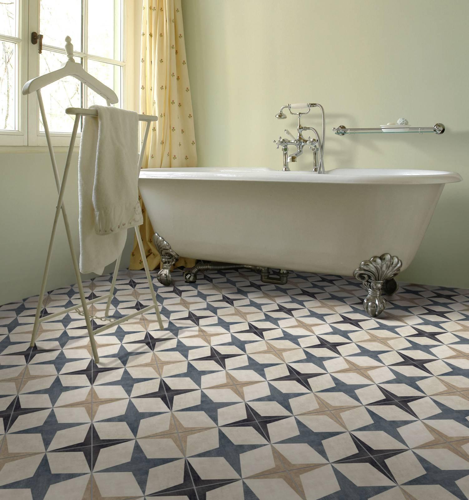 Piastrelle per il bagno il trionfo del gres effetto - Decori piastrelle bagno ...