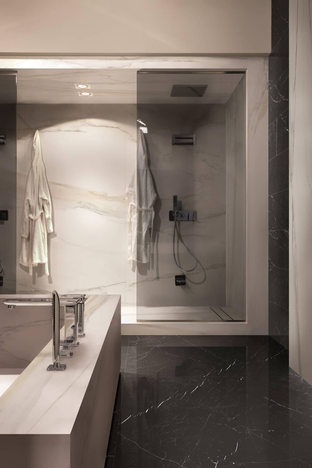 Piastrelle per il bagno il trionfo del gres effetto cose di casa - Rex piastrelle bagno ...