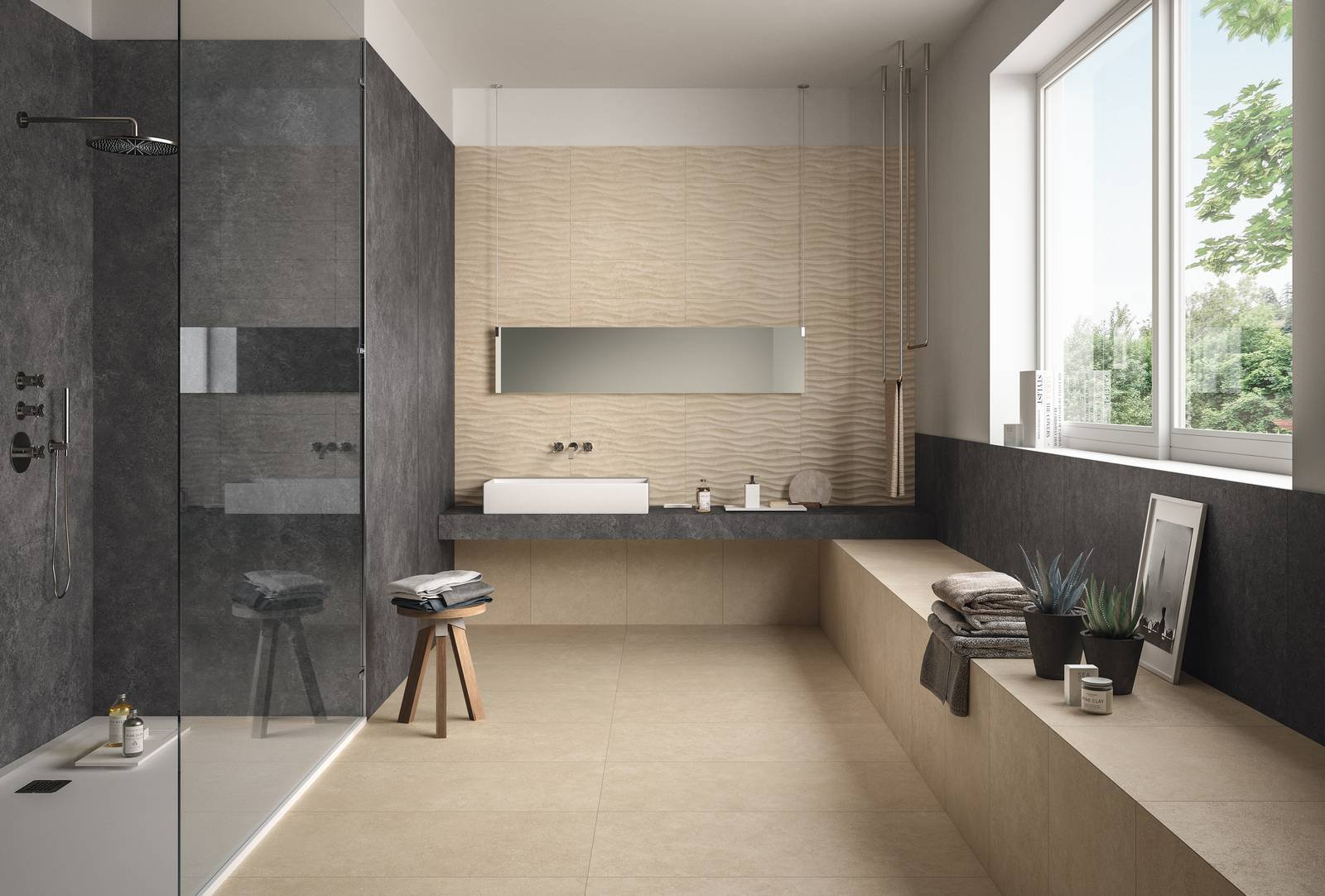 Piastrelle per il bagno il trionfo del gres effetto - Colori piastrelle bagno ...