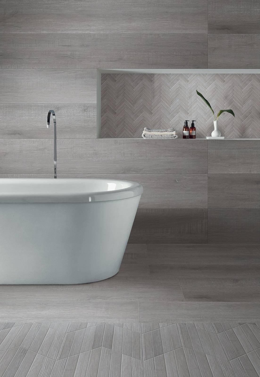 Bagno Con Mosaico Bianco piastrelle per il bagno: il trionfo del gres effetto
