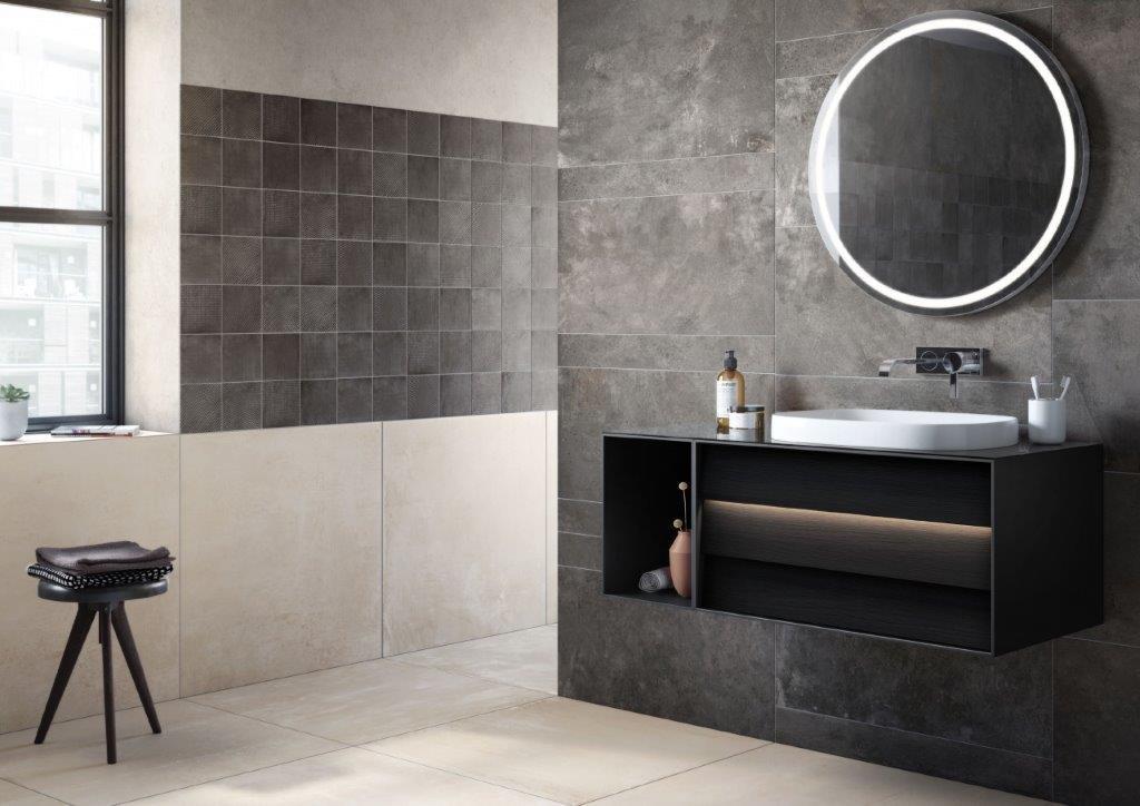 Piastrelle per il bagno: il trionfo del gres effetto cose di casa
