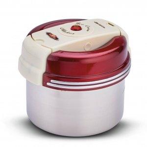 La gelatiera Frozen Ice Cream Maker della linea Party Time di Ariete funziona in modalità cordless grazie alla batteria al litio ricaricabile posta sul coperchio che attiva la spatola per miscelare gli ingredienti. Una volta accesa e messo in freezer, prepara fino a 1 kg di gelato in massimo 8 ore e a seconda delle quantità, bisogna aspettare dalle 4 alle 8 ore ma si possono ottenere ben 5 cicli di gelato con una sola carica di batteria. Prezzo 49,90 euro. www.ariete.net