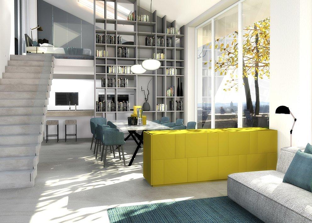 Arredare con il soffitto spiovente e doppie altezze cose for Arredare loft open space