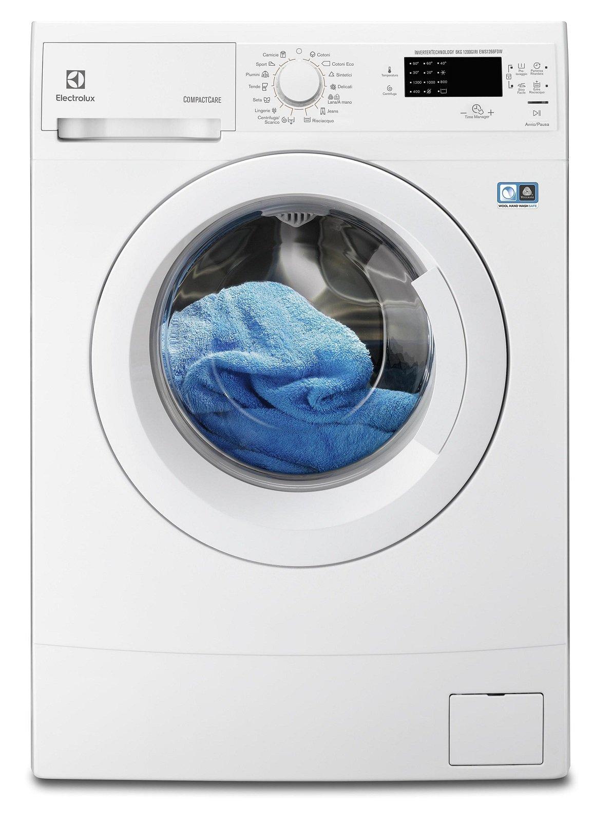 profonde o larghe fino a 45 cm le lavatrici salvaspazio. Black Bedroom Furniture Sets. Home Design Ideas