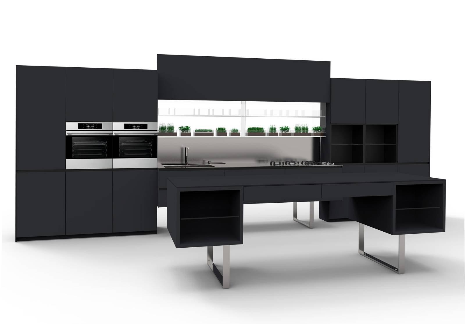 Nero in cucina dai mobili alla finestra black is rock cose di casa