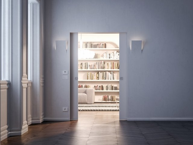 Classiche a battente o scorrevoli a scomparsa le porte filomuro - Controtelaio porta battente cartongesso ...