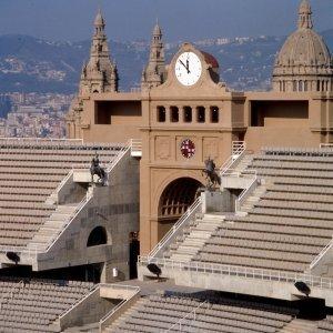 Stadio Olimpico, Barcellona, 1986-1988 Il sistema delle tribune in corrispondenza della Puerta de Maradon