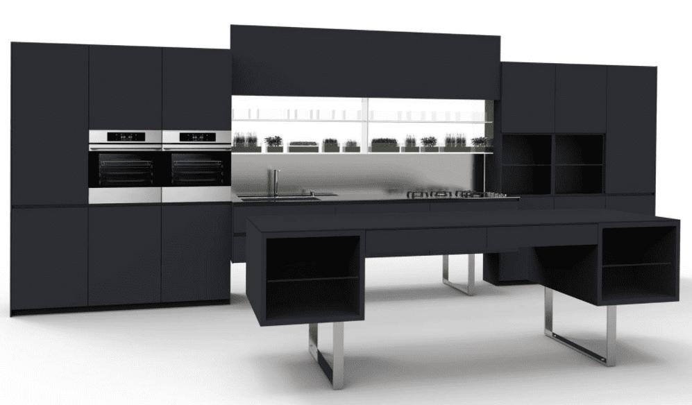 Aran cucina nera cose di casa for Cucina nera