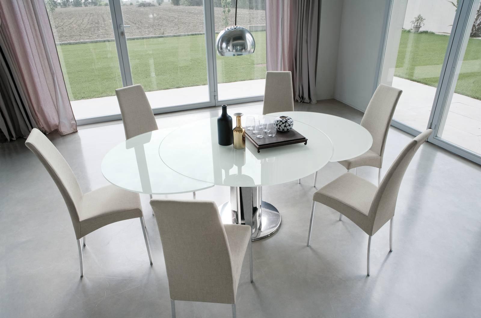 Tavolo Con Gamba Centrale Allungabile tavolo rotondo allungabile: contemporaneo, classico, in