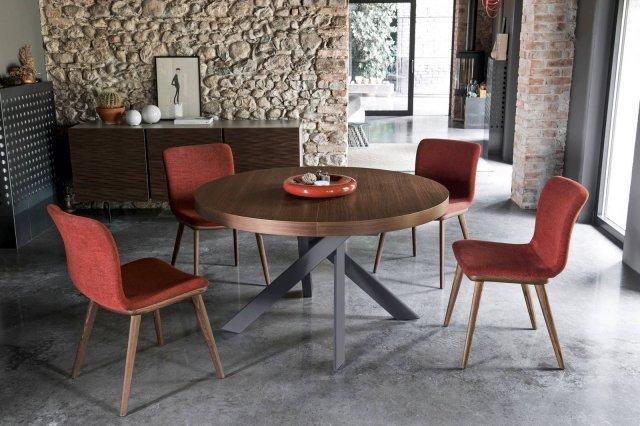 Tavolo rotondo allungabile contemporaneo classico in for Tavolo ovale allungabile calligaris