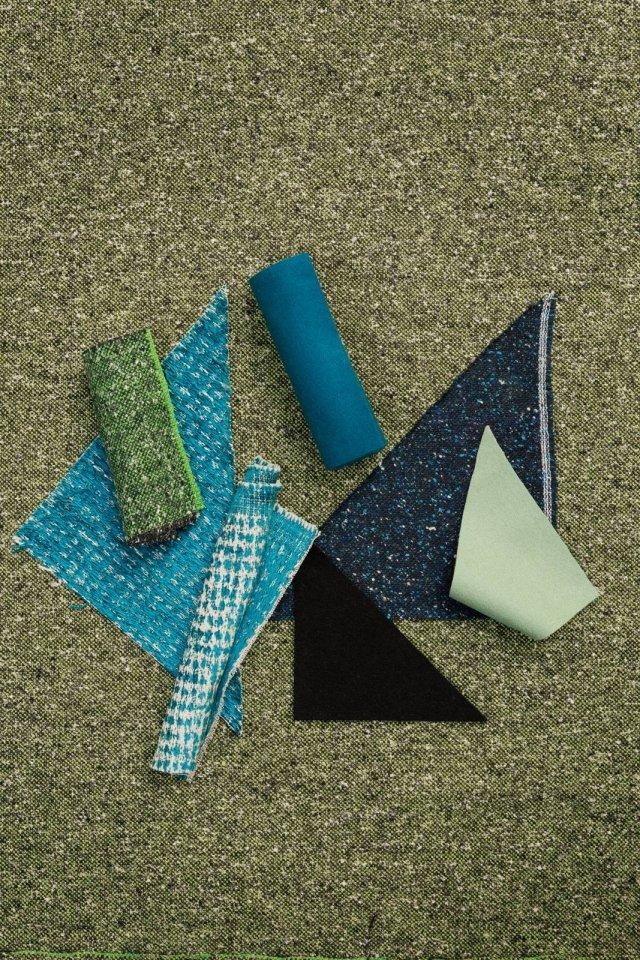 Il disegno ha motivi geometrici, con sagome nette che combaciano perfettamente: è un trucco che semplifica e velocizza il lavoro e ne assicura la riuscita. Nella foto: tessuti di Designers Guild (www.designersguild.com/it).