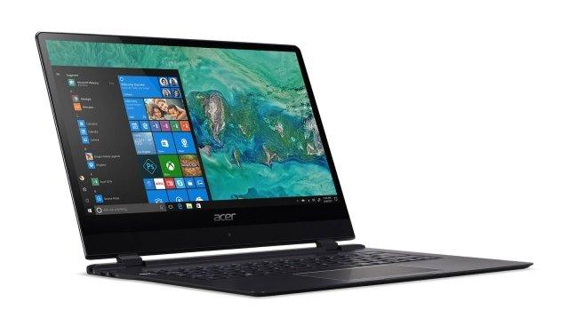 Acer Swift 7 Il nuovo Acer Swift 7 (SF714-51T) rivendica il titolo di laptop più sottile al mondo e progettato per la mobilità, con appena 8,98 millimetri di spessore. Dotato di Windows 10 e con un design ultra-portatile che integra un potente processore Intel Core i7, una batteria in grado di durare un'intera giornata di lavoro e un sistema di connettività Intel XMM 4G LTE veloce e affidabile. Si rende particolarmente utile per i professionisti che desiderano eliminare i problemi di connessione wireless nei tragitti da un punto all'altro del proprio viaggio, aiutandoli a rimanere concentrati sulle attività da svolgere. Oltre a uno slot per schede Nano SIM, Swift 7 offre la tecnologia eSIM, che consente il download e l'attivazione dei profili eSIM. Swift 7 viene fornito con un profilo Transatel provvisto di un massimo di 1 GB di dati gratuiti validi per un mese in 48 paesi per aiutare gli utenti a partire immediatamente col proprio lavoro, ma ulteriori piani dati possono essere acquistati con facilità attraverso l'applicazione Mobile Plans in ogni momento e luogo. Il wireless 802.11ac con MIMO 2x2 fornisce inoltre connessioni affidabili e veloci alla rete dell'ufficio o dell'abitazione. SSD PCIe da 256 GB offre ampio spazio per mantenere i dati più importanti sempre a portata di mano, mentre gli 8 GB di memoria LPDDR3 mantengono il multitasking fluido e reattivo. Un lettore di impronte digitali consente l'accesso al sistema senza bisogno di digitare la password, attraverso l'interfaccia Windows Hello. Sarà disponibile nell'area EMEA ad aprile con prezzi a partire 1.899 euro. www.acer.com