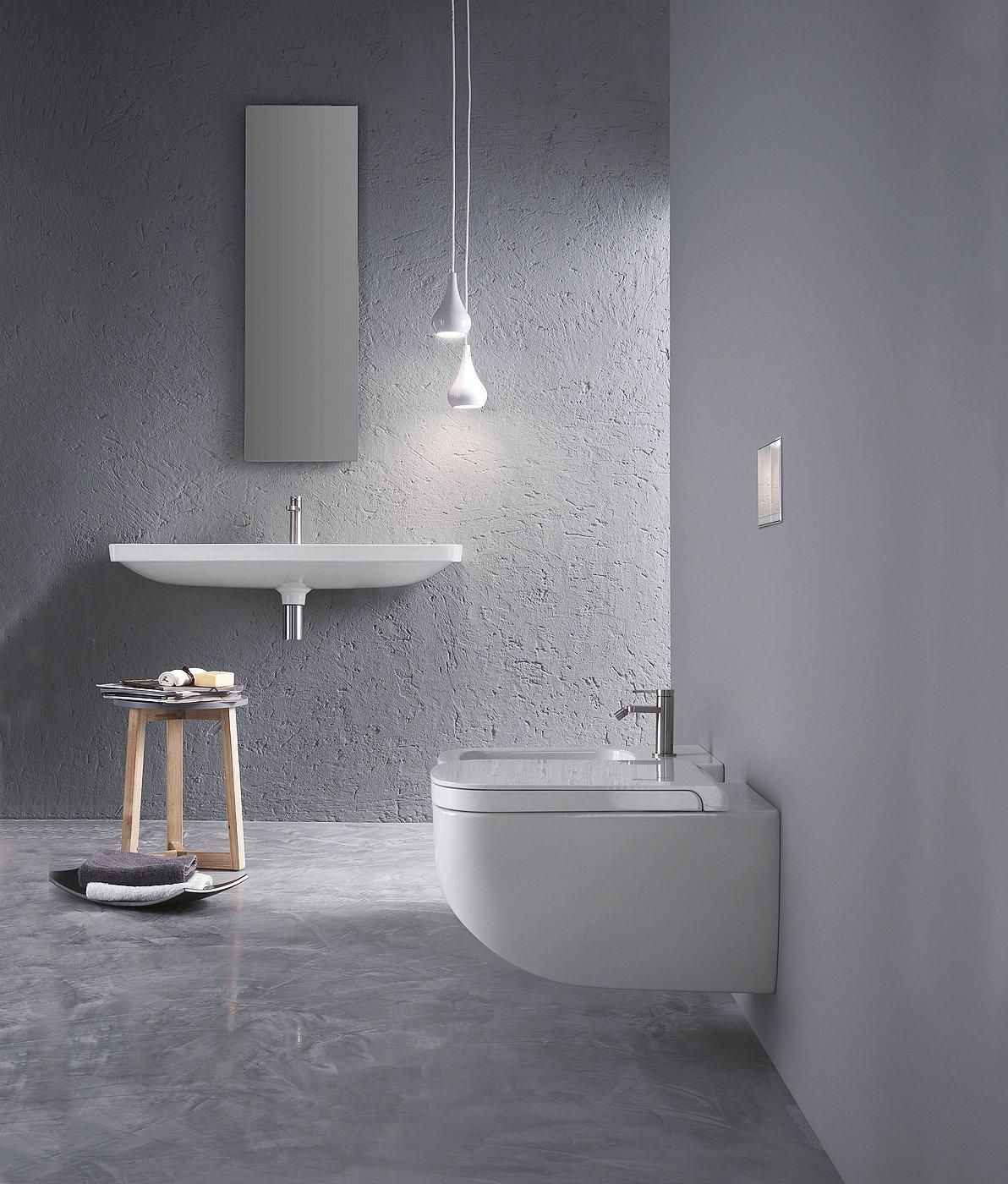 Ceramica WC sospeso Rimless senza bordo igienica WC con sedile WC Soft Close Funzione Quick Release