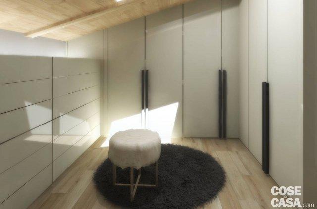 Living open space nell 39 appartamento con mansarda cose di for Planimetrie della cabina del lago con soppalco
