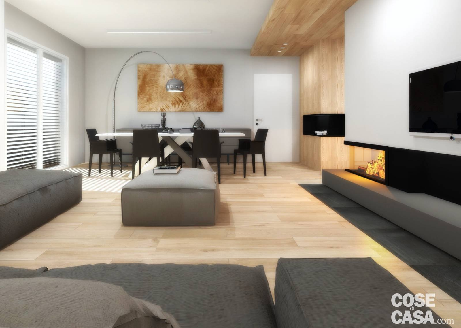 Cose La Camera Da Letto Padronale : Living open space nell appartamento con mansarda cose di casa