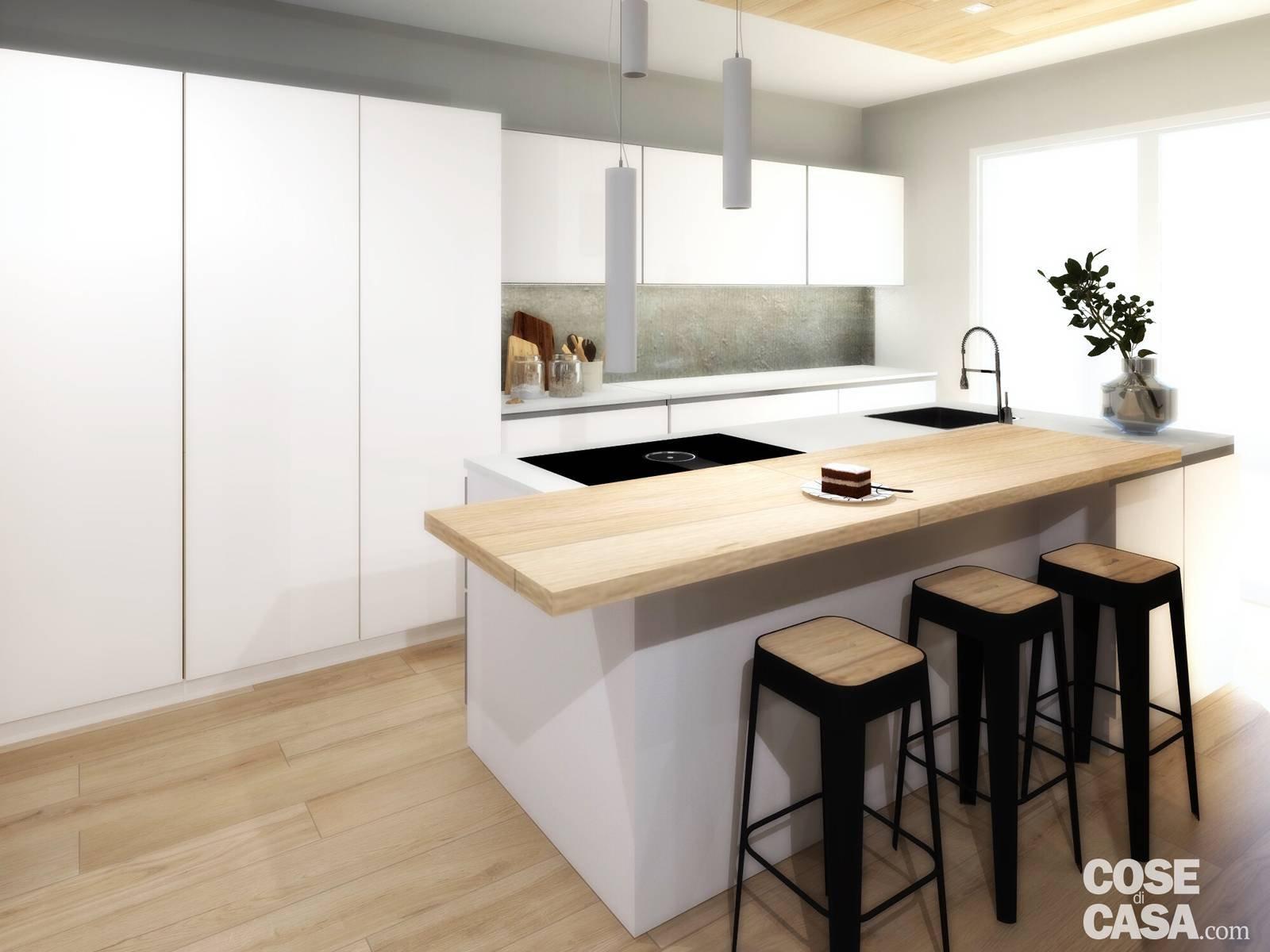 Living open space nell\'appartamento con mansarda - Cose di Casa