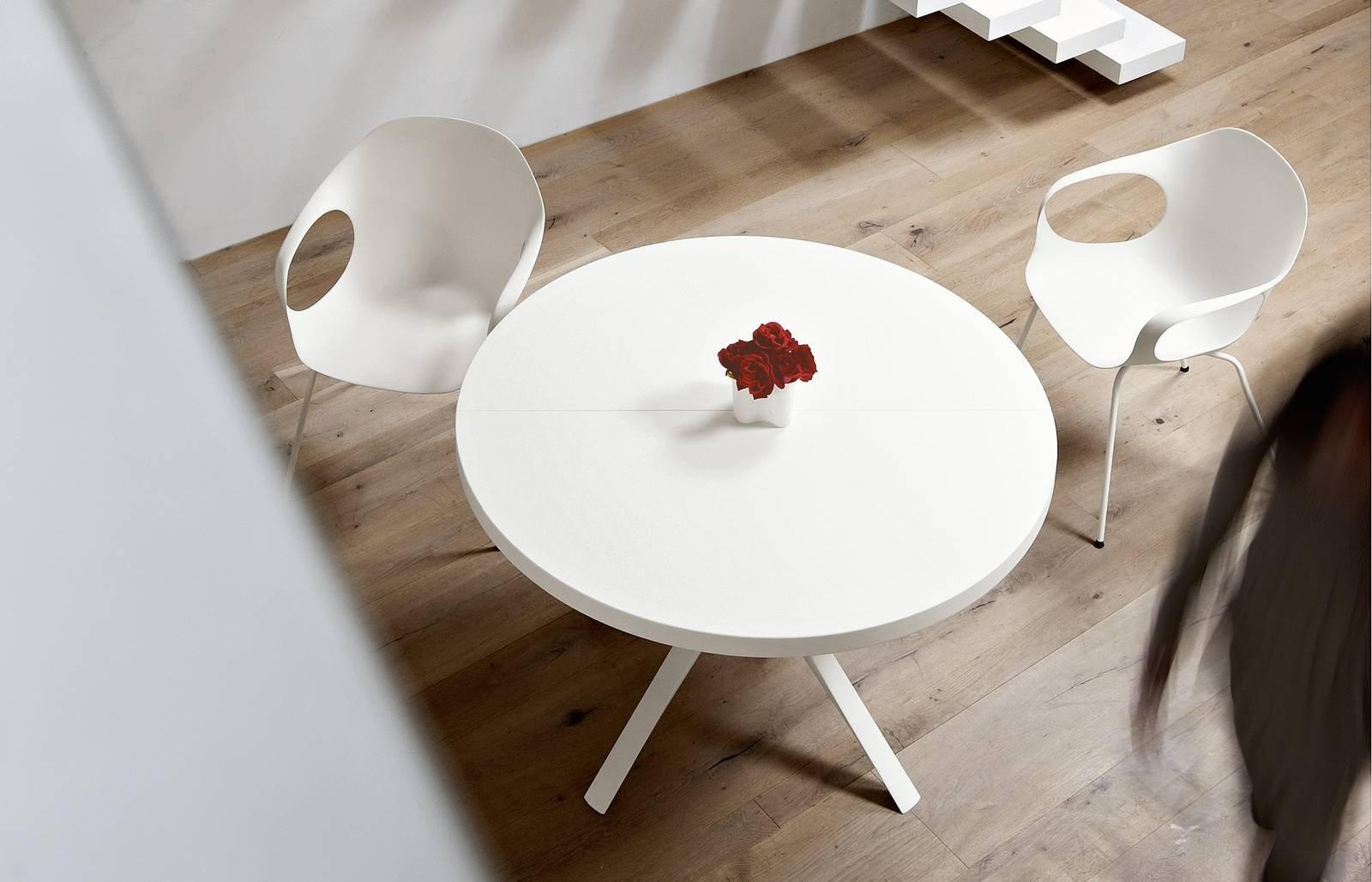 Tavolo Tondo 100 Cm.Tavolo Rotondo Allungabile Contemporaneo Classico In Stile