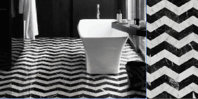 Pavimenti e rivestimenti in marmo: revival a più tinte