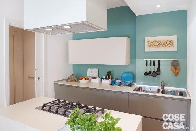 In 52 mq un mini trilocale con lavanderia cose di casa - Piano lavoro cucina ...
