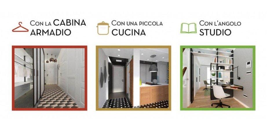 Tre soluzioni per sfruttare l 39 ingresso e due per - Ingressi case moderne ...