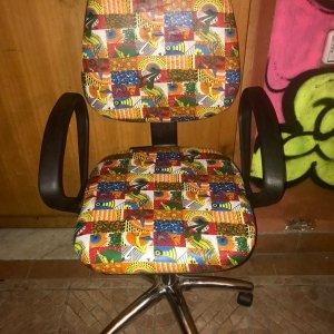 Maison Abi - Sedia Wax quadrati patch fantasia