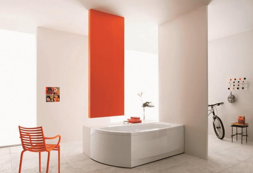Le vasche a parete in materiali resistenti e di facile manutenzione - Leroy merlin parete vasca bagno ...