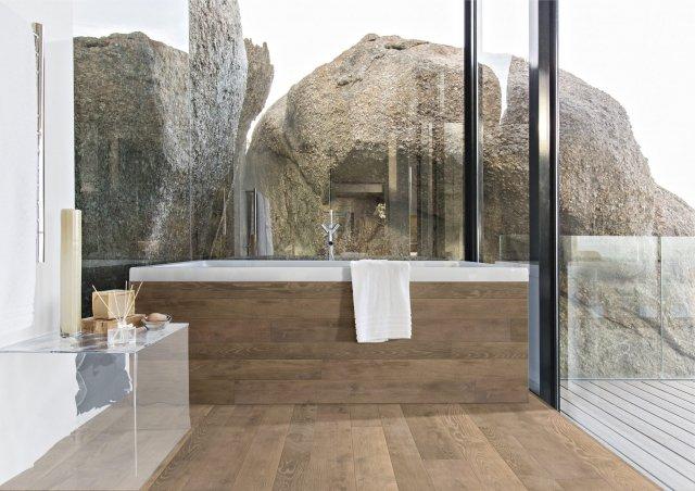 Parquet in rovere grigio canapa della collezione Antico Asolo di CP Parquet. (www.cpparquet.it)