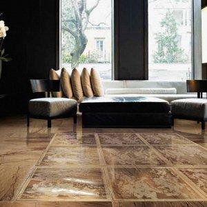 Ceramiche Brennero, Venus 60x60 Visone - decoro Solitaire Gold pavimento