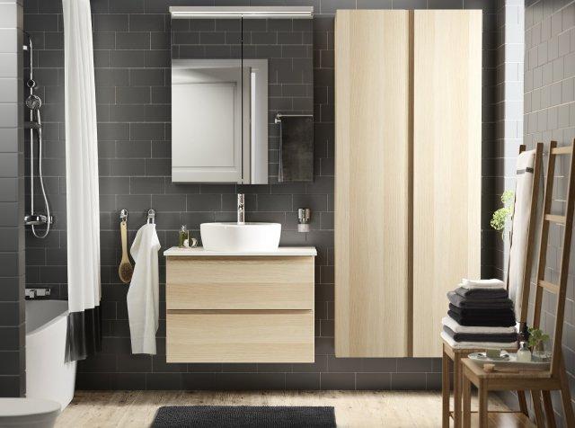Il lavabo da appoggio Törnviken di Ikea Italia è in porcellana bianca vetrificata. Monoforo e con troppopieno, misura ø 45 cm. Prezzo 49 euro. www.ikea.it