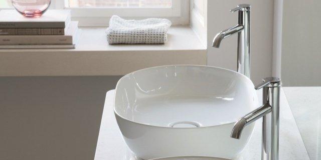 Lavabi da appoggio in ceramica, gemelli o single