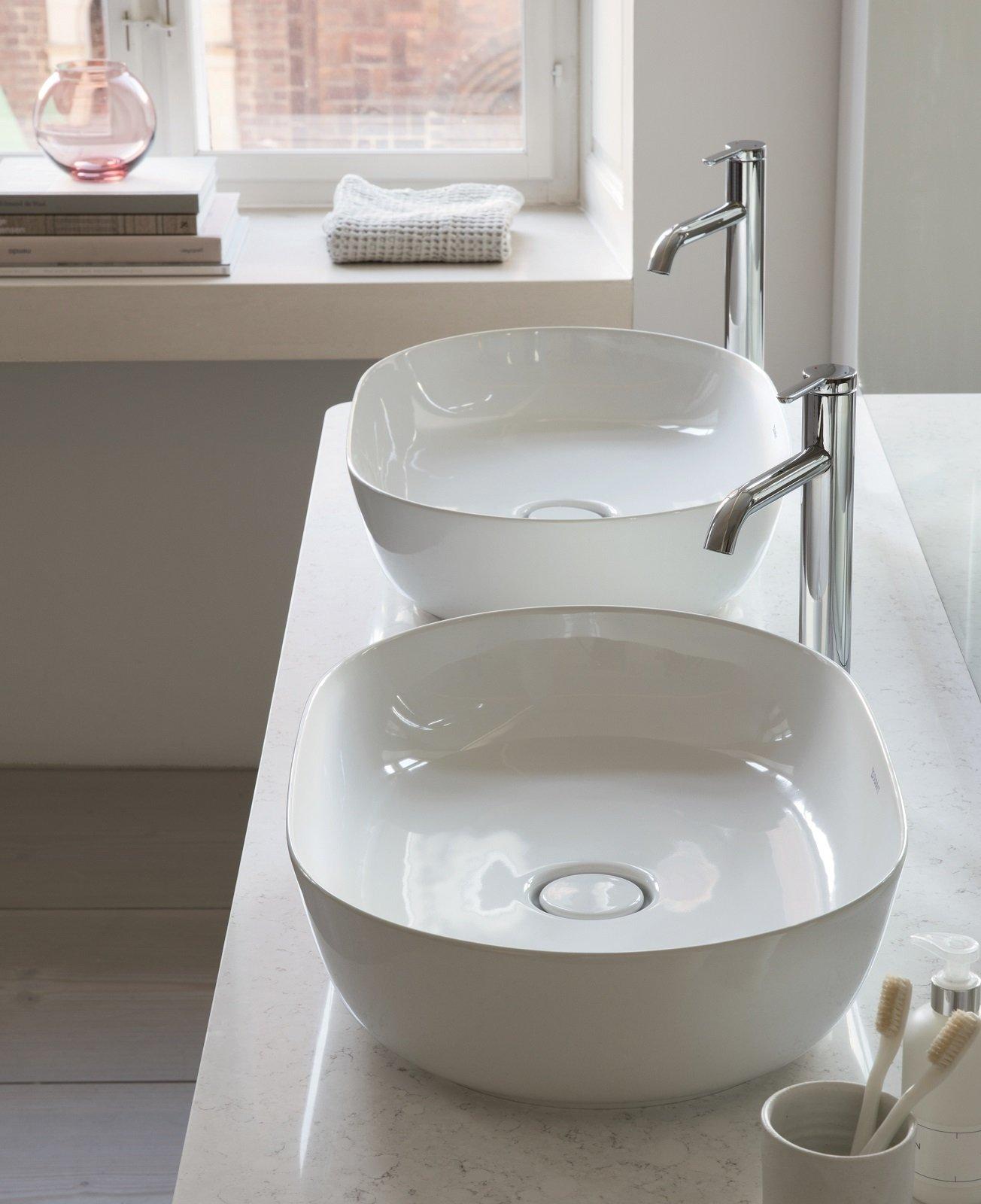 Lavello Cucina In Porcellana lavandini bagno da appoggio in ceramica, gemelli o single