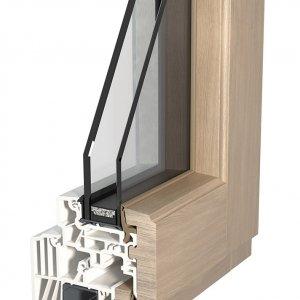 FIN-Ligna anta Slim-line pvc-legno