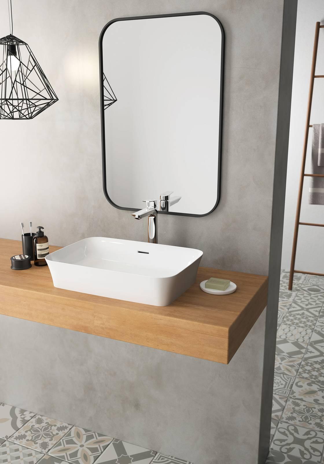 Lavabi da appoggio ipalyss il design vincente di una nuova miscela ceramica plasmabile in - Lavabi bagno ideal standard ...