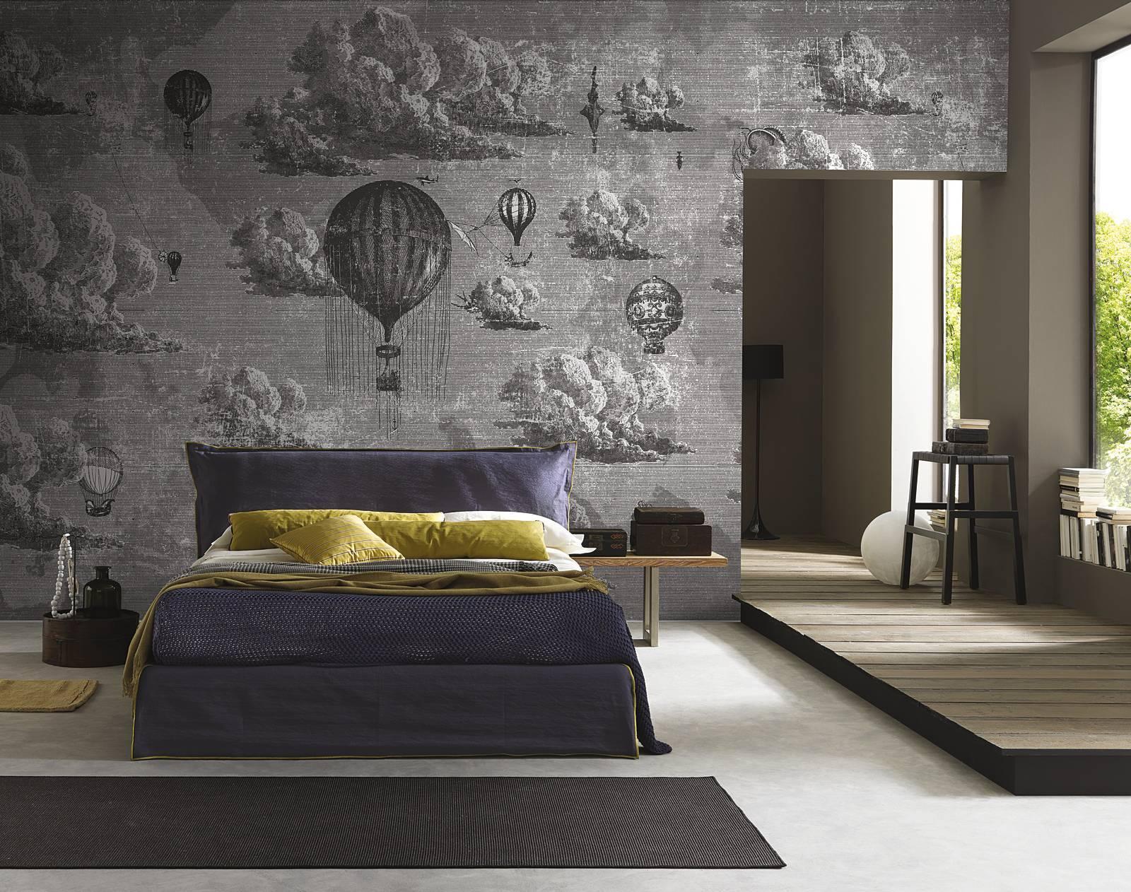 Carta da parati dietro al letto 16 soluzioni scenografiche cose di casa - Murales camera da letto ...