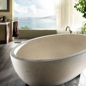 Vasca da bagno Gaia in marmo Veselye