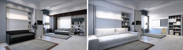 Living in progress: a sinistra, per una co-housing; a destra, per una famiglia allargata, con l'angolo cucina.