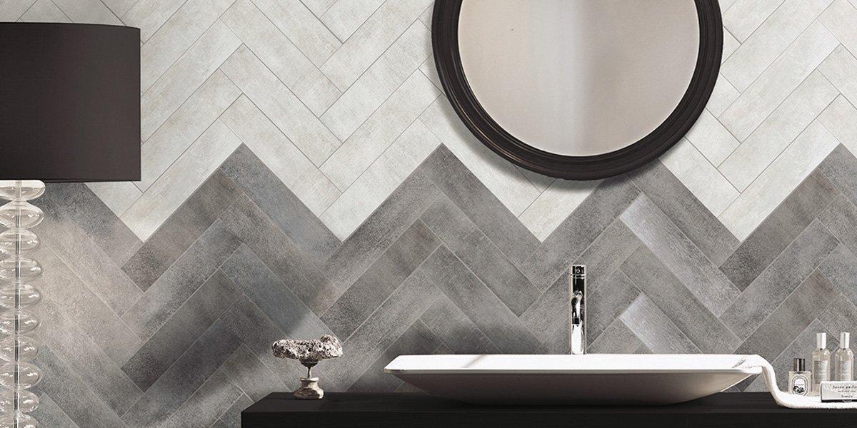 Piastrelle effetto tessuto o tridimensionale per un bagno for Piastrelle bagno in rilievo