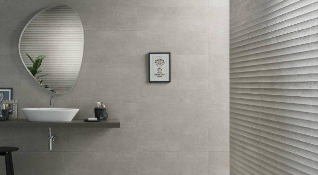 Piastrelle effetto tessuto o tridimensionale per un bagno for Polis arredo bagno