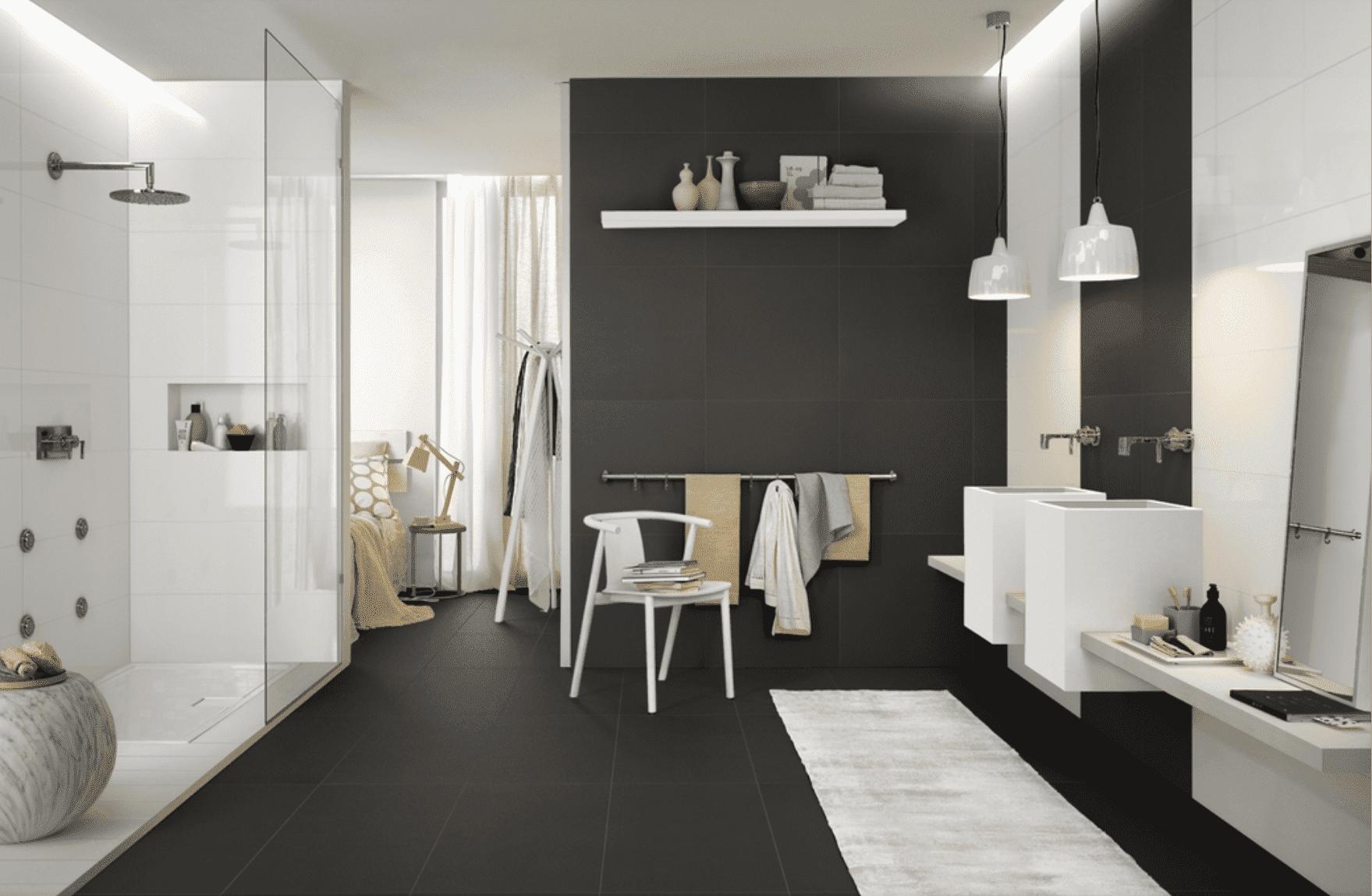 Arredamento Pavimento Scuro come scegliere le finiture del bagno e abbinarle bene? basta