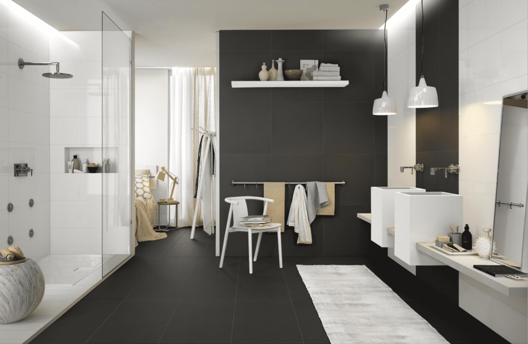 Pavimento Bianco Colore Pareti : Come scegliere le finiture del bagno e abbinarle bene? basta un