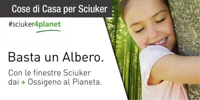 Basta un albero. Con il progetto #Sciuker4Planet nasce la Foresta che restituisce ossigeno al Pianeta