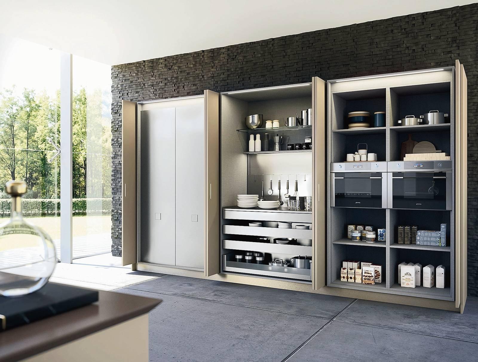 Cucine Moderne Con Ante Scorrevoli.Colonne Per La Cucina E Ogni Cosa Trova Il Posto Giusto Cose Di