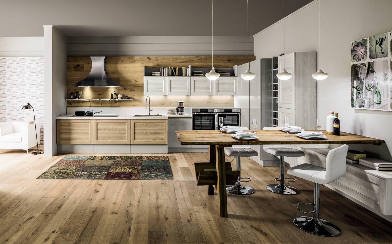Cucine qual il legno pi richiesto e venduto cose di casa - Cucina acciaio e legno ...