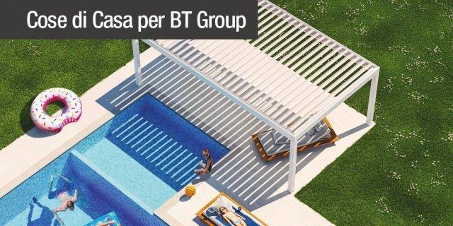 Tende da sole e pergolati BT Group: le novità 2018 per l'outdoor