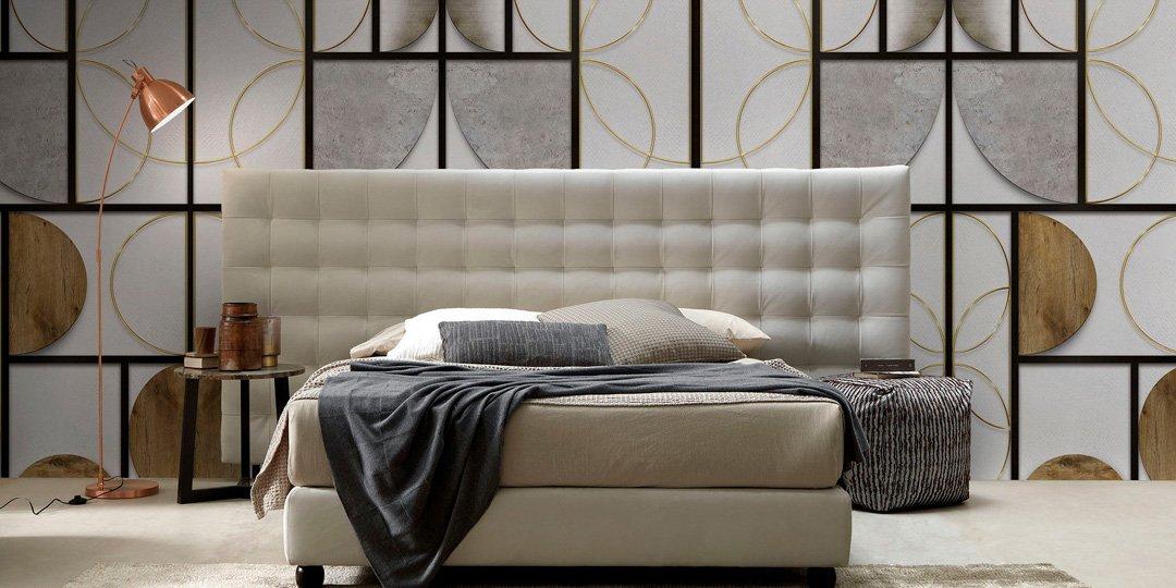 Carta da parati dietro al letto 16 soluzioni for Carta decorativa per pareti
