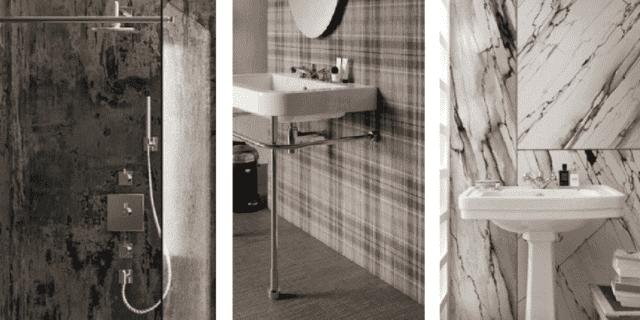Quali finiture per il bagno? 3 soluzioni di tendenza per doccia e parete dietro il lavabo