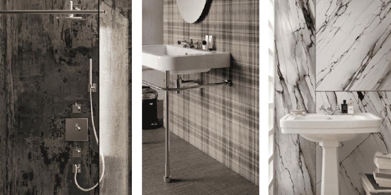 Quali finiture per il bagno 3 soluzioni di tendenza per doccia e parete dietro il lavabo cose - Soluzioni per il bagno ...