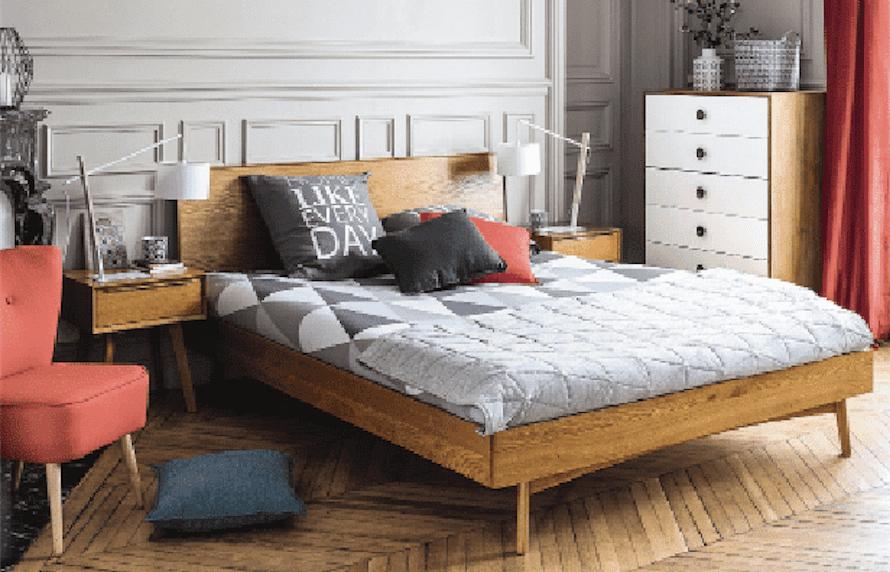 Letto in legno da abbinare a elementi singoli diversi per colore e stile cose di casa - Maison du monde letto contenitore ...