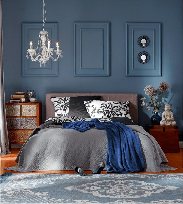 Una parete blu in casa: scelta d\'effetto, anche da ottenere con un ...